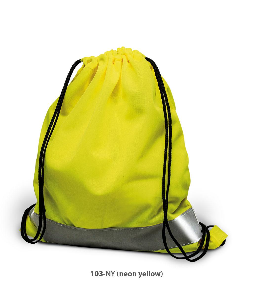 Polyester Beutel Arnheim in Neon gelb