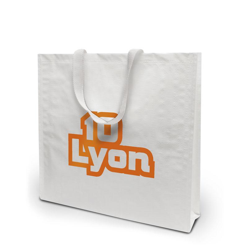 Coated Tasche Lyon in weiss
