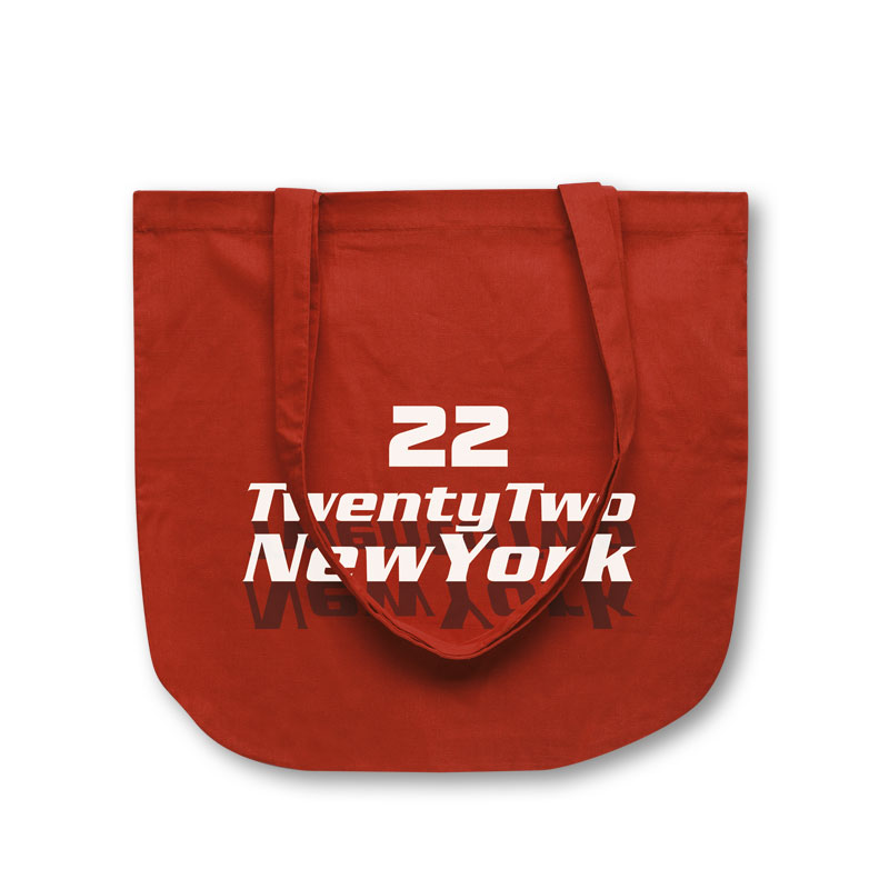 Baumwolltasche New York in rot