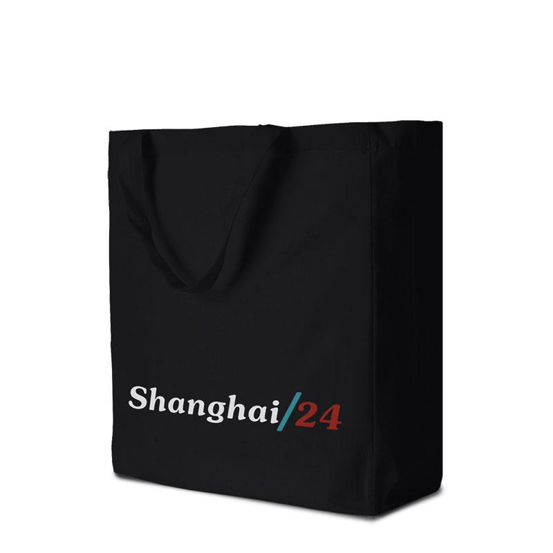Baumwolltasche Shanghai in schwarz
