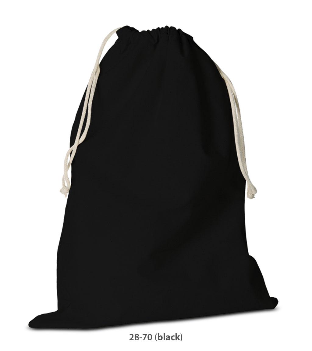 Baumwolle Rucksack Delhi schwarz