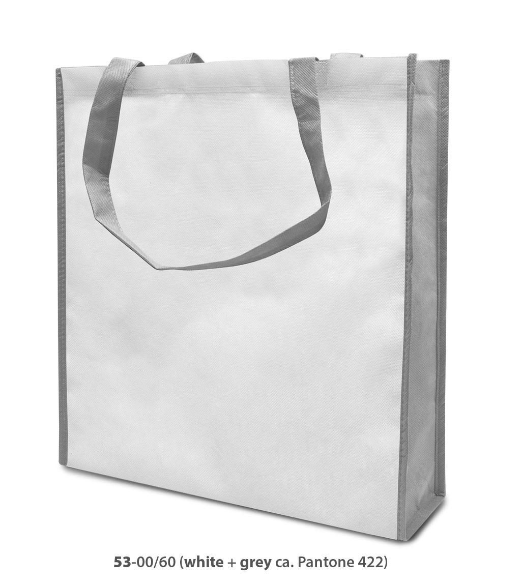 Non-Woven Tasche Lisboa in weiss/grau