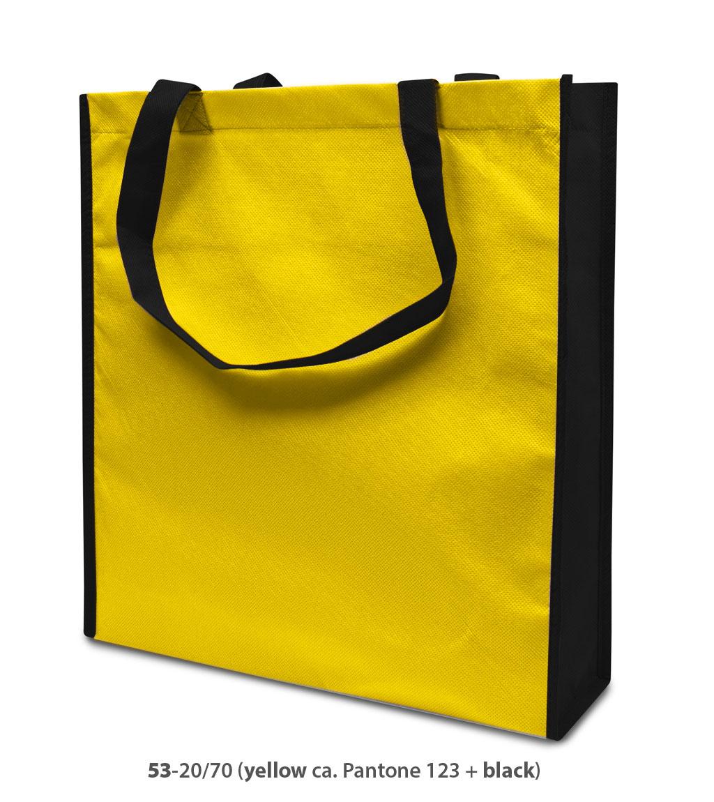 Non-Woven Tasche Lisboa in gelb/schwarz