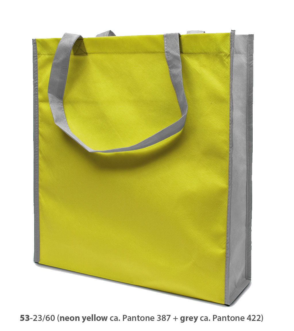 Non-Woven Tasche Lisboa in neongelb/grau