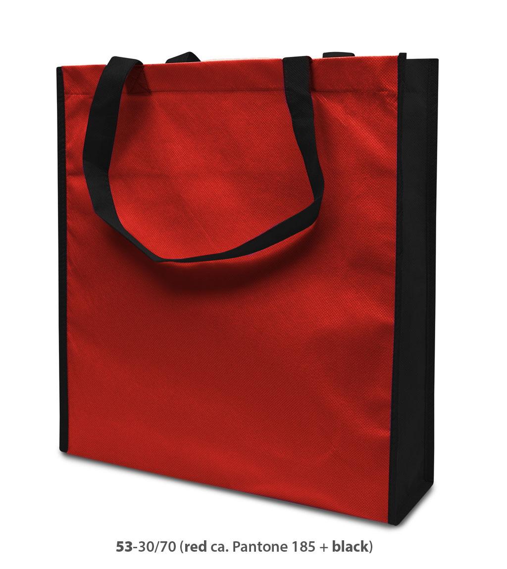 Non-Woven Tasche Lisboa in rot/schwarz