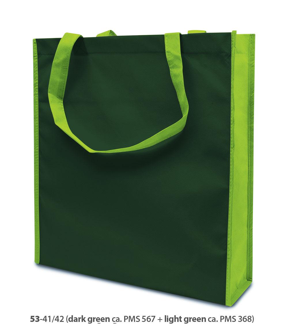 Non-Woven Tasche Lisboa in dunkelgrün/hellgrün