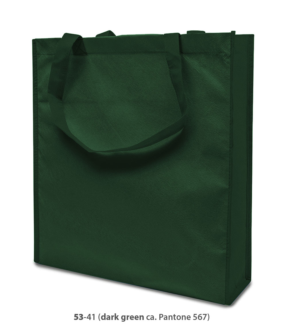 Non-Woven Tasche Lisboa in dunkelgrün