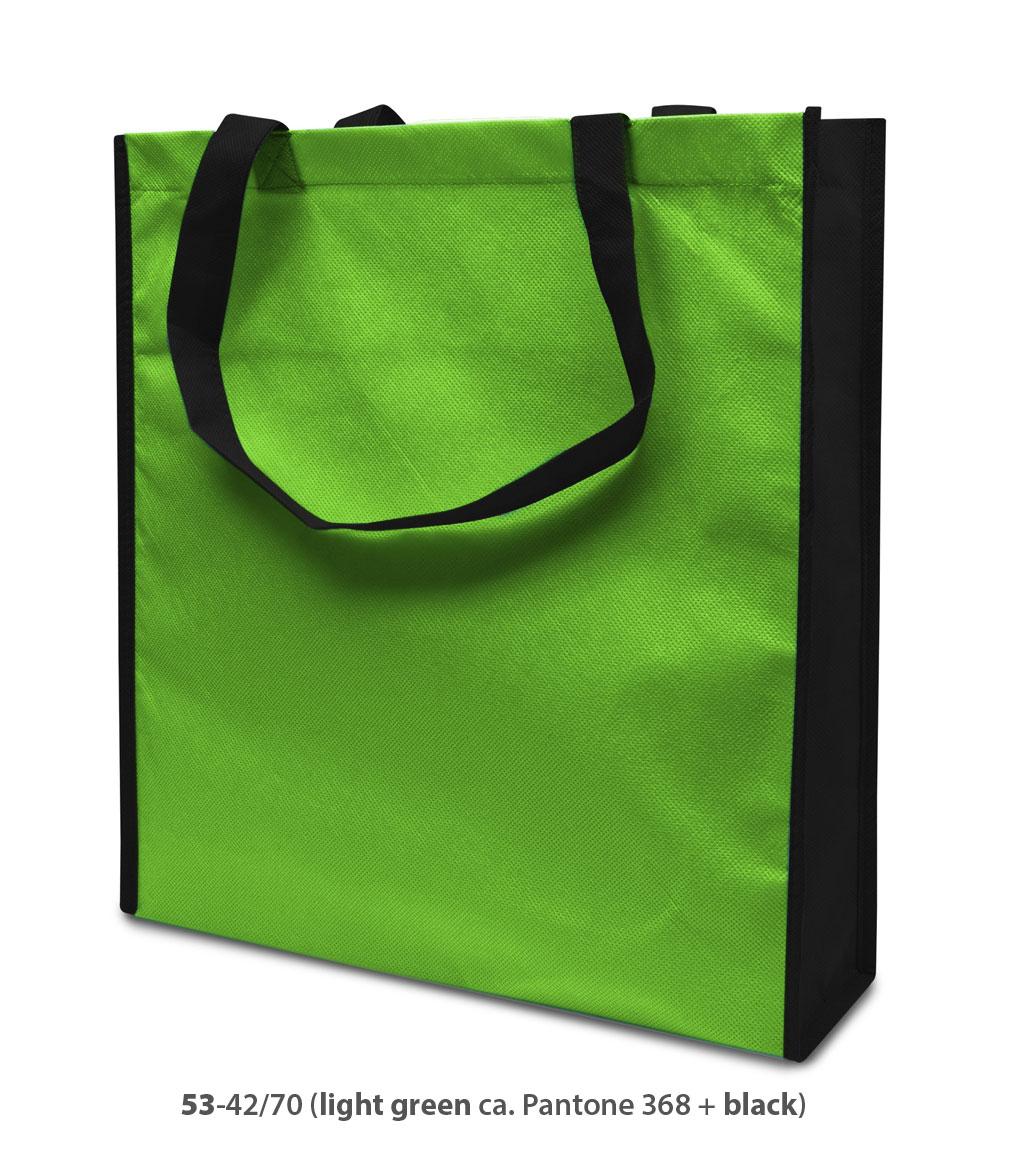 Non-Woven Tasche Lisboa in hellgrün/schwarz