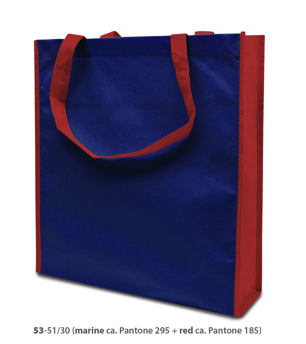 Non-Woven Tasche Lisboa in blau/rot