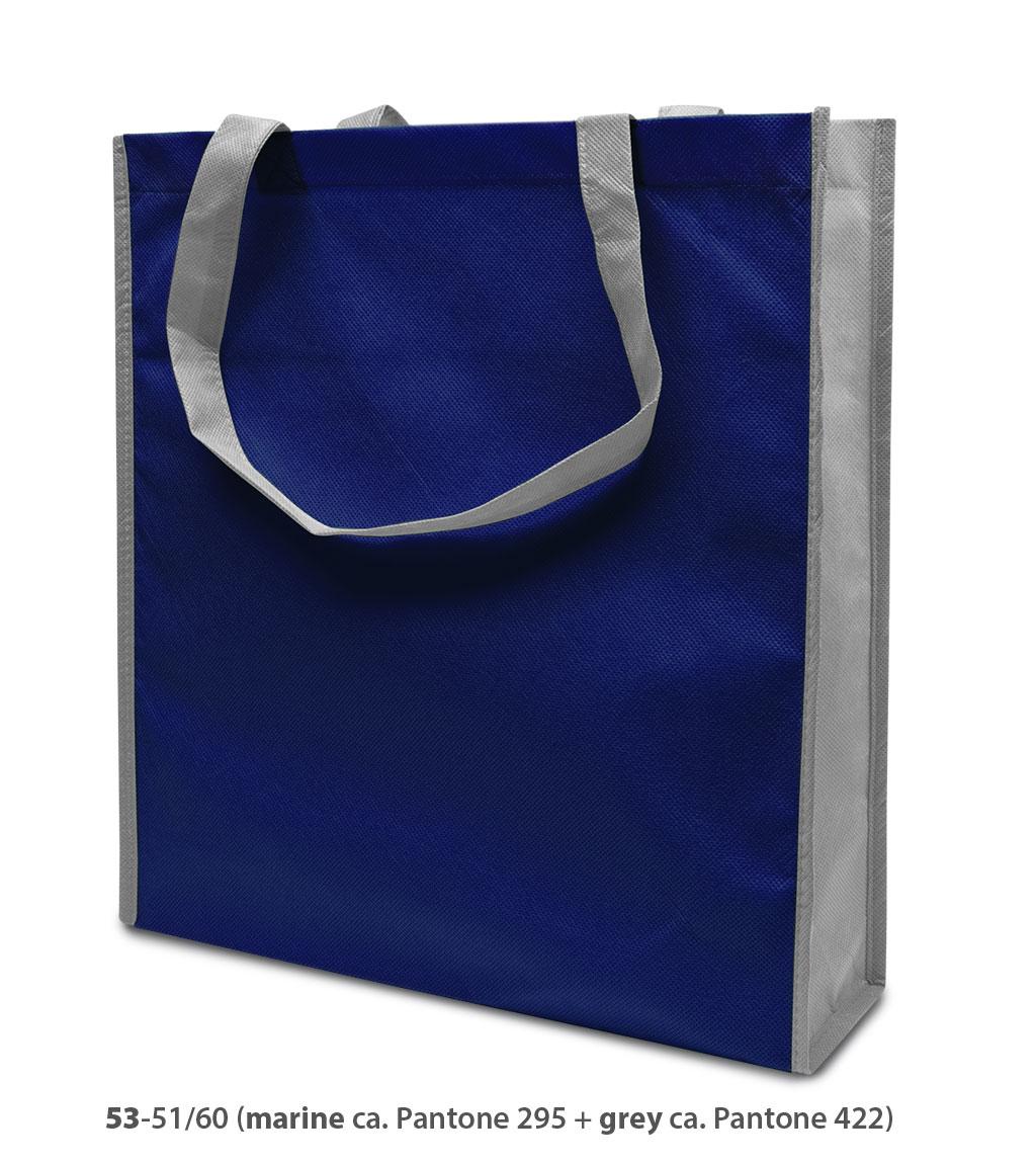 Non-Woven Tasche Lisboa in blau/grau