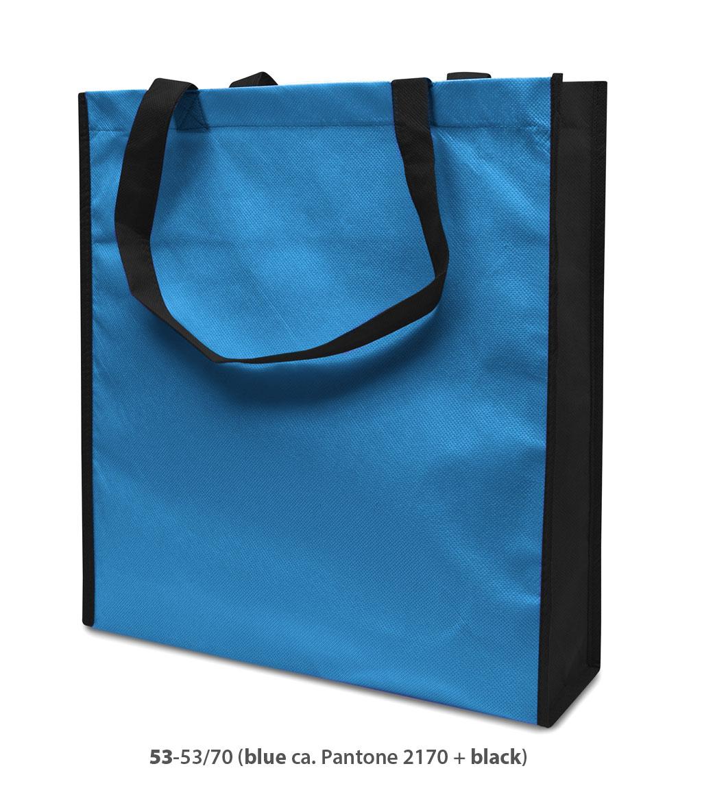 Non-Woven Tasche Lisboa in blau/schwarz