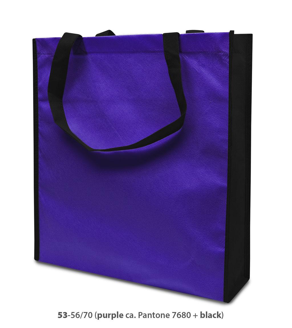 Non-Woven Tasche Lisboa in violett/schwarz