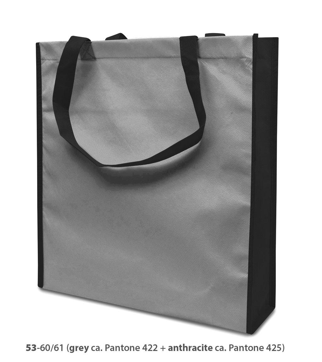 Non-Woven Tasche Lisboa in grau/dunkelgrau