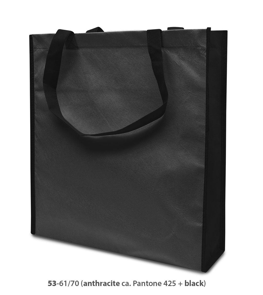 Non-Woven Tasche Lisboa in dunkelgrau/schwarz