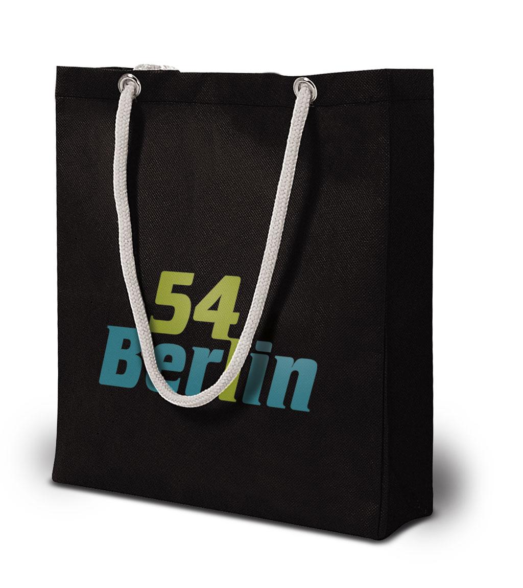 Non-woven Tasche Berlin in Detailansicht