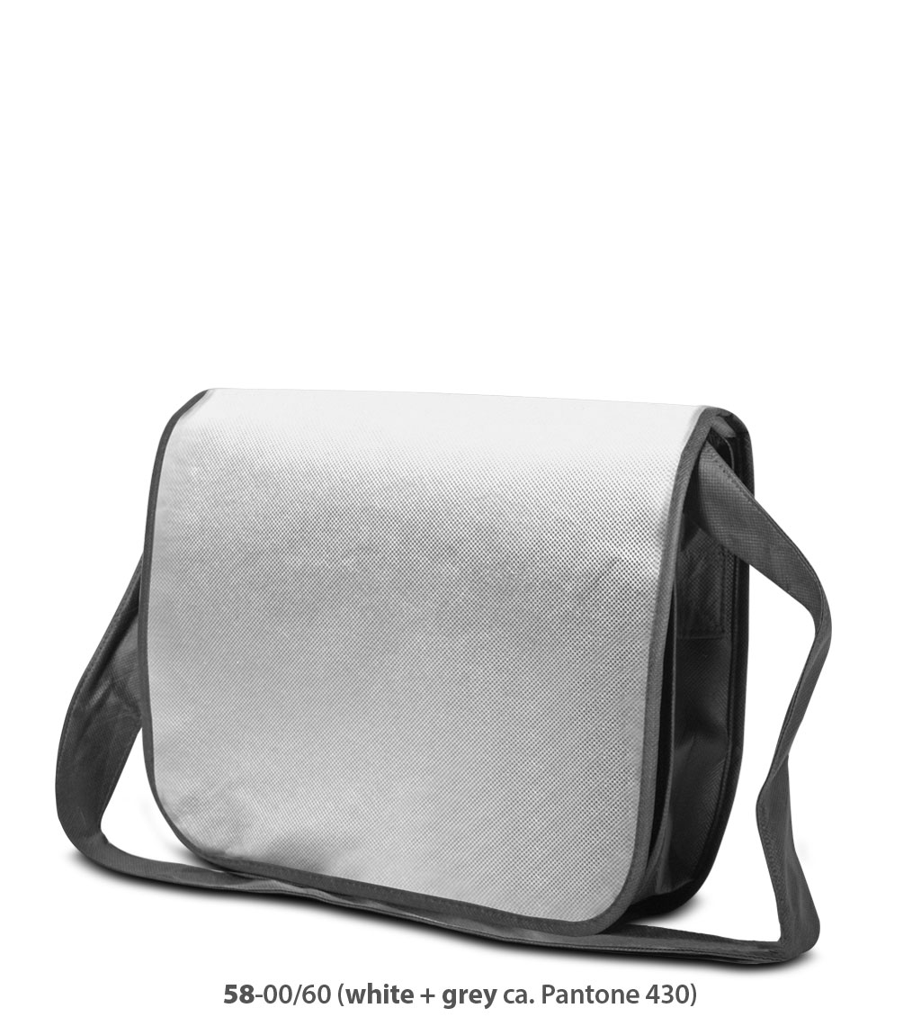 Non-Woven Tasche Frankfurt in weiss / grau