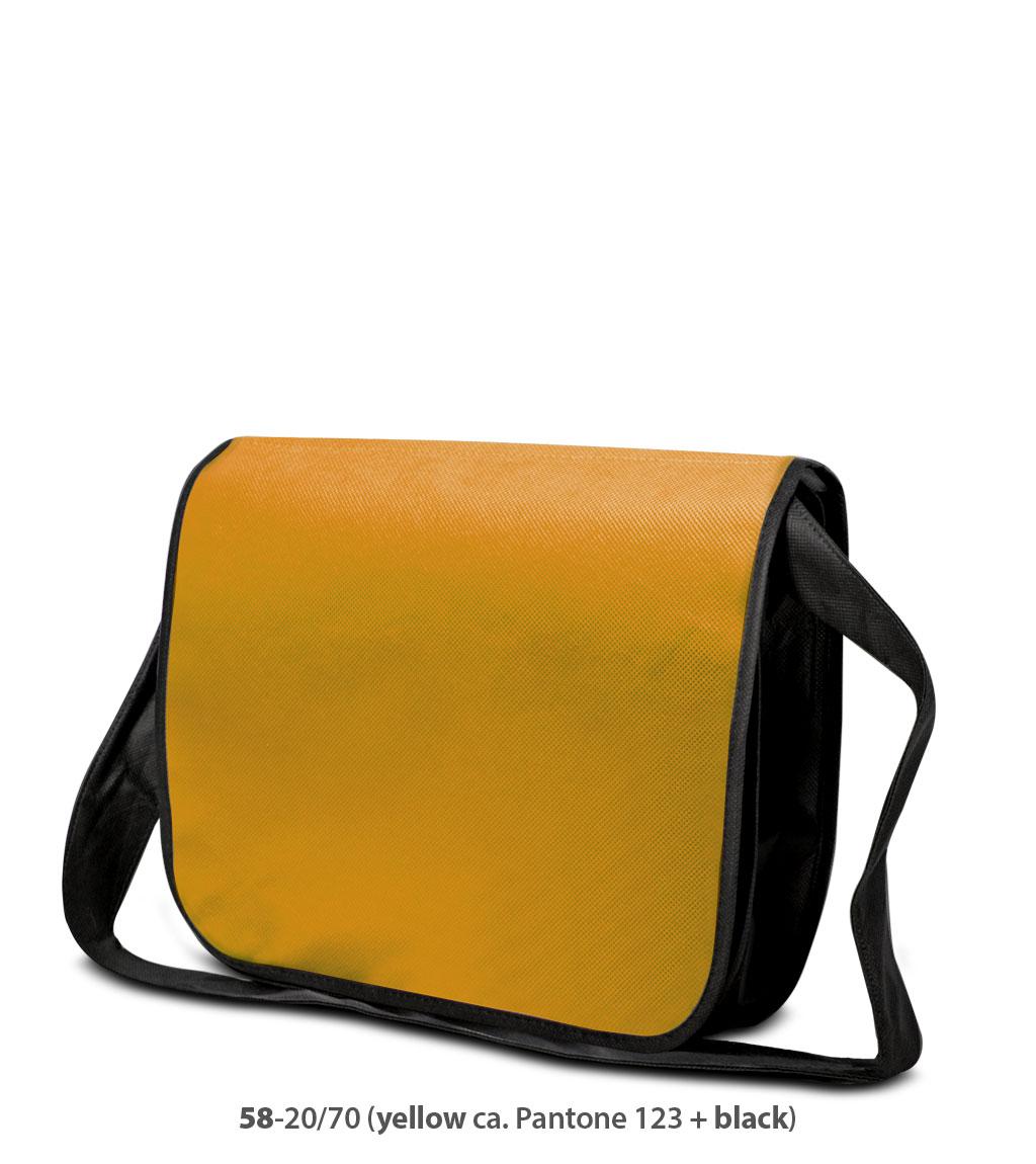 Non-Woven Tasche Frankfurt in gelb / schwarz