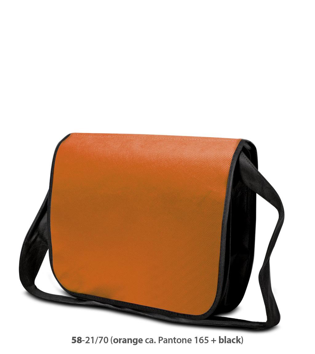 Non-Woven Tasche Frankfurt in orange / schwarz