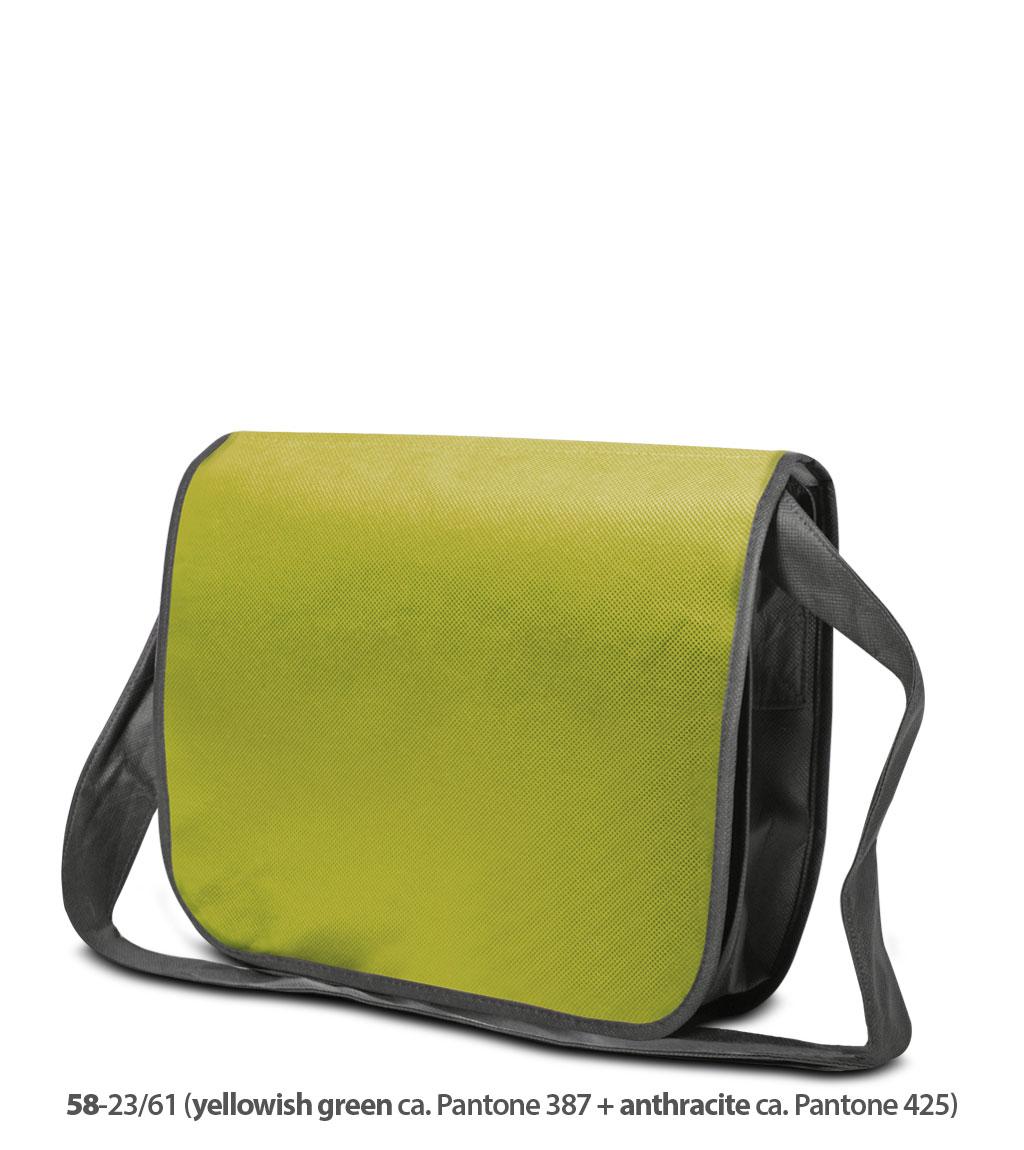Non-Woven Tasche Frankfurt in gelbgrün / dunkelgrau