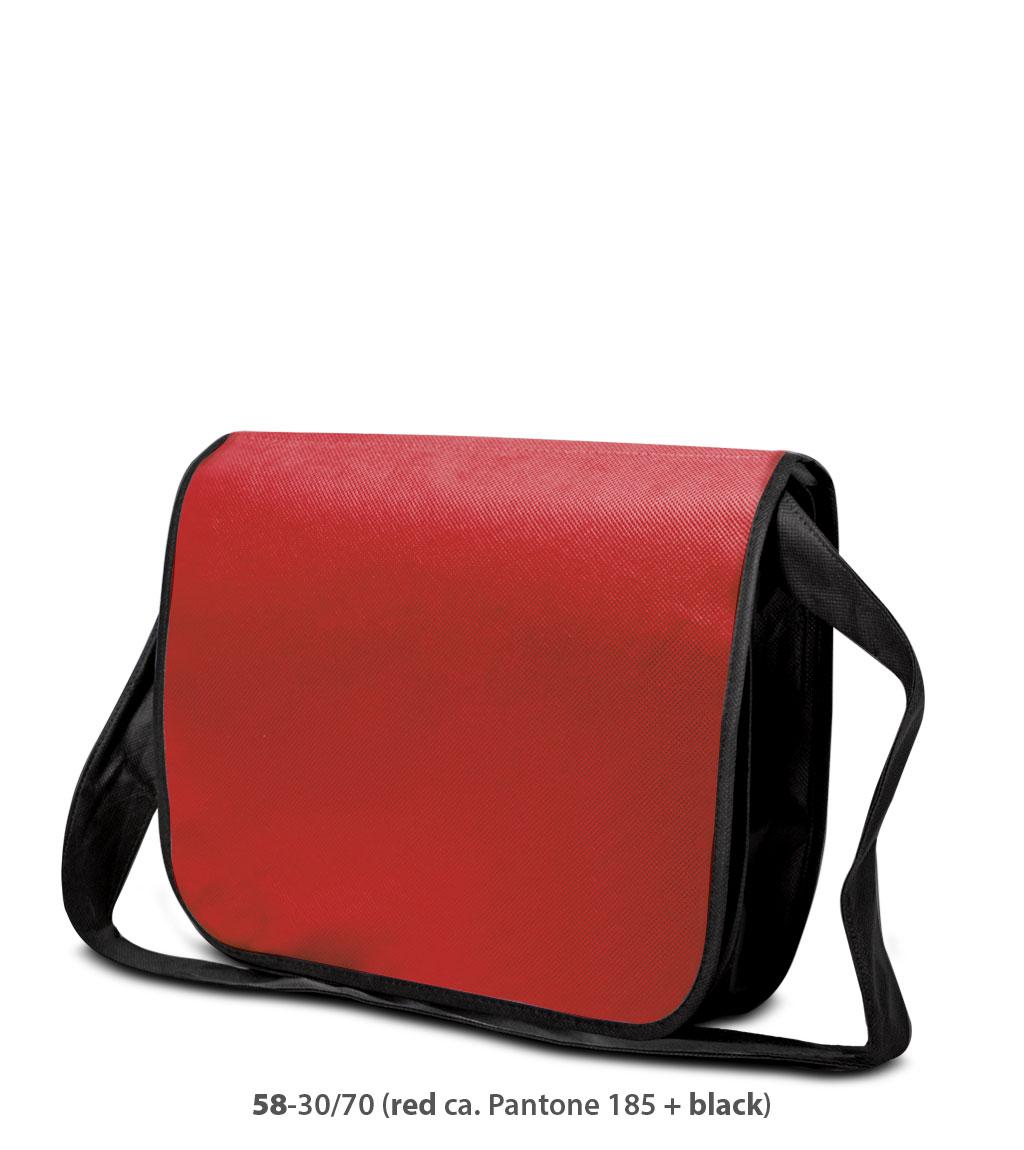 Non-Woven Tasche Frankfurt in rot / schwarz