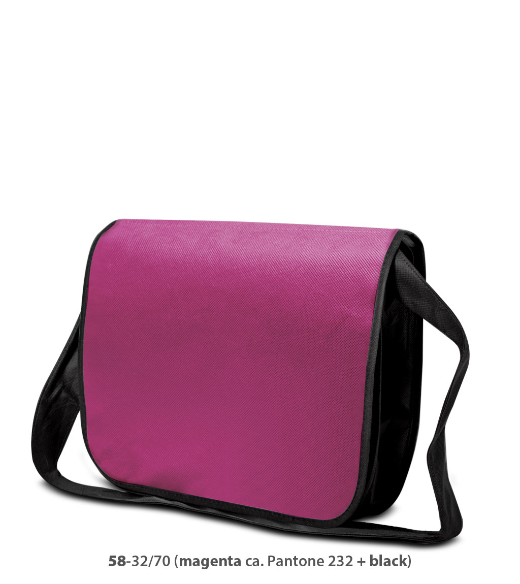 Non-Woven Tasche Frankfurt in magenta / schwarz
