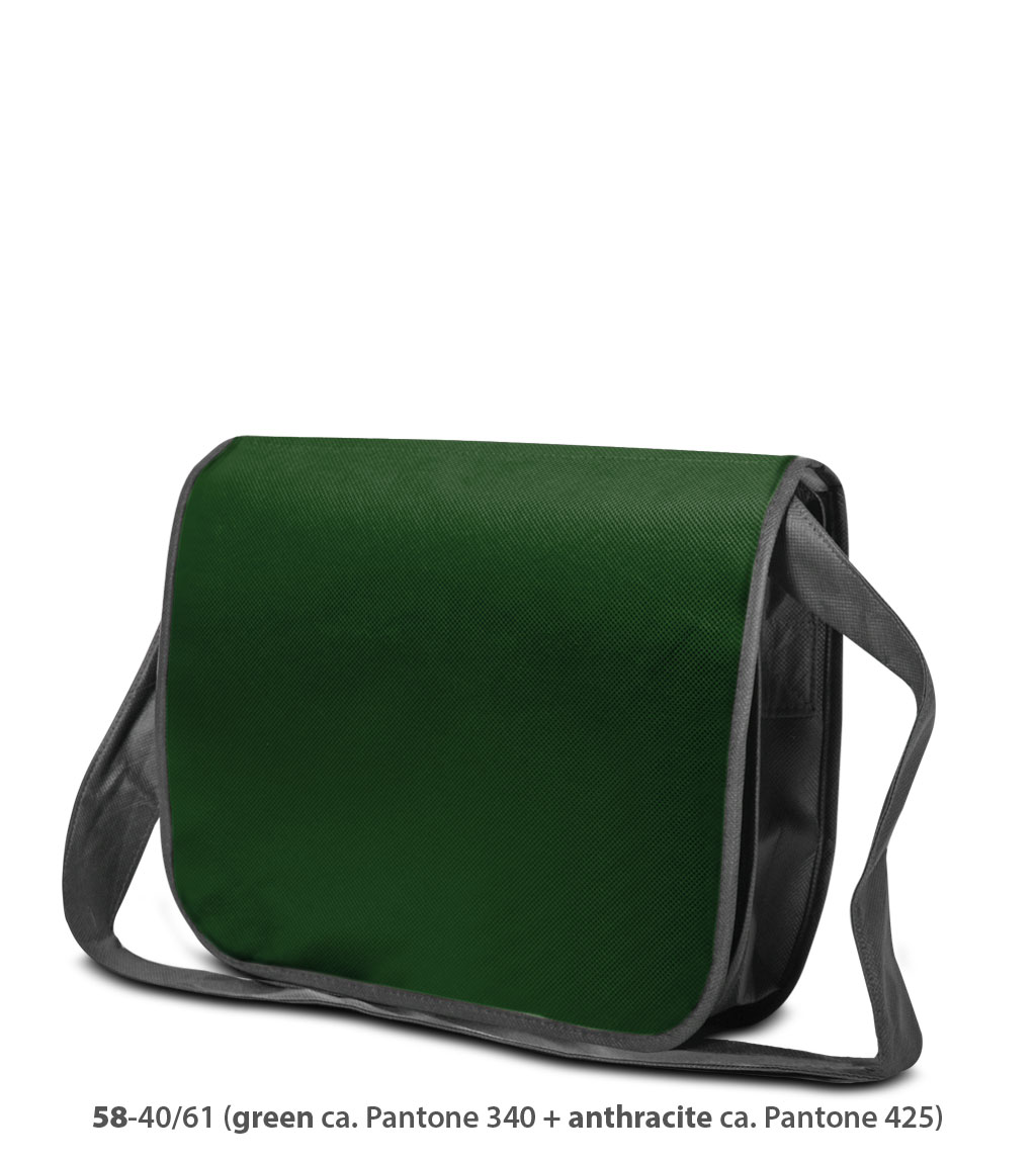 Non-Woven Tasche Frankfurt in grün / dunkelgrau