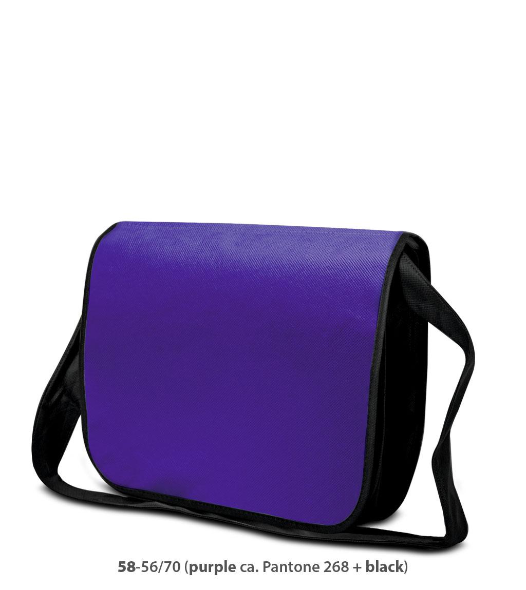 Non-Woven Tasche Frankfurt in violet / schwarz
