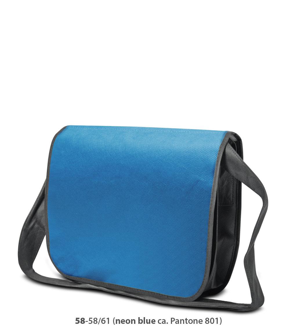Non-Woven Tasche Frankfurt in neonblau / dunkelgrau