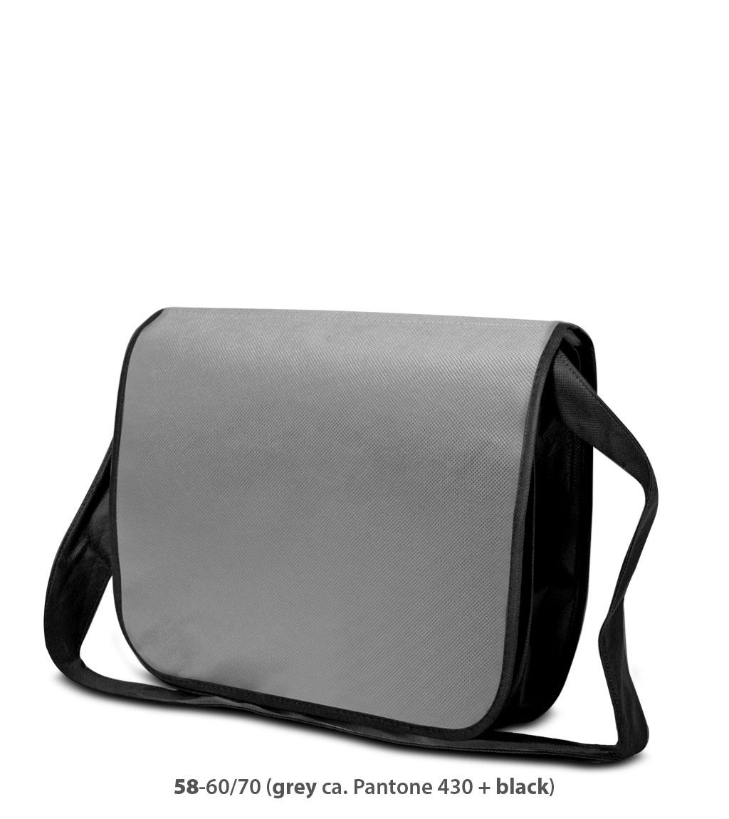 Non-Woven Tasche Frankfurt in grau / dunkelgrau