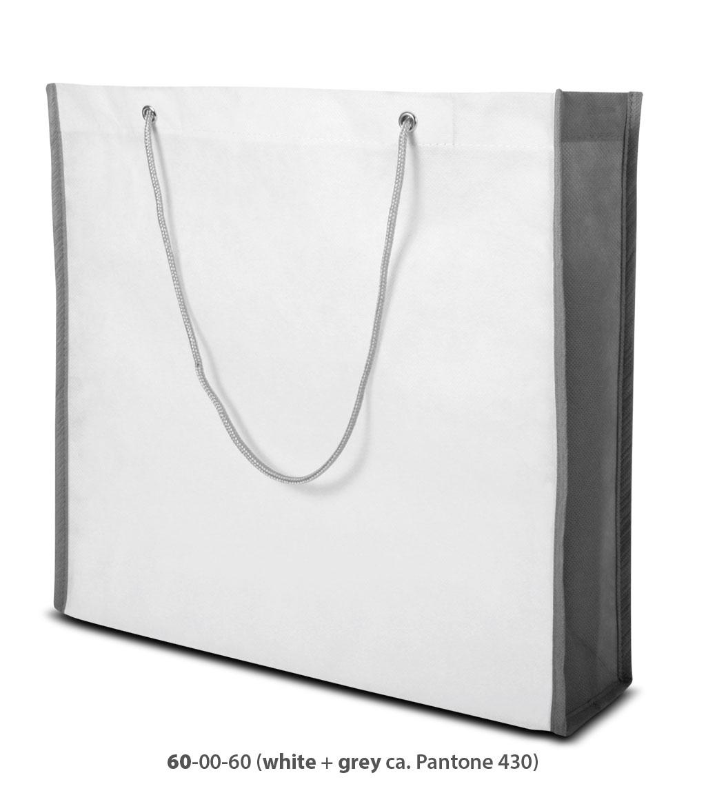 Non-Woven Tasche Milano in weiss / grau