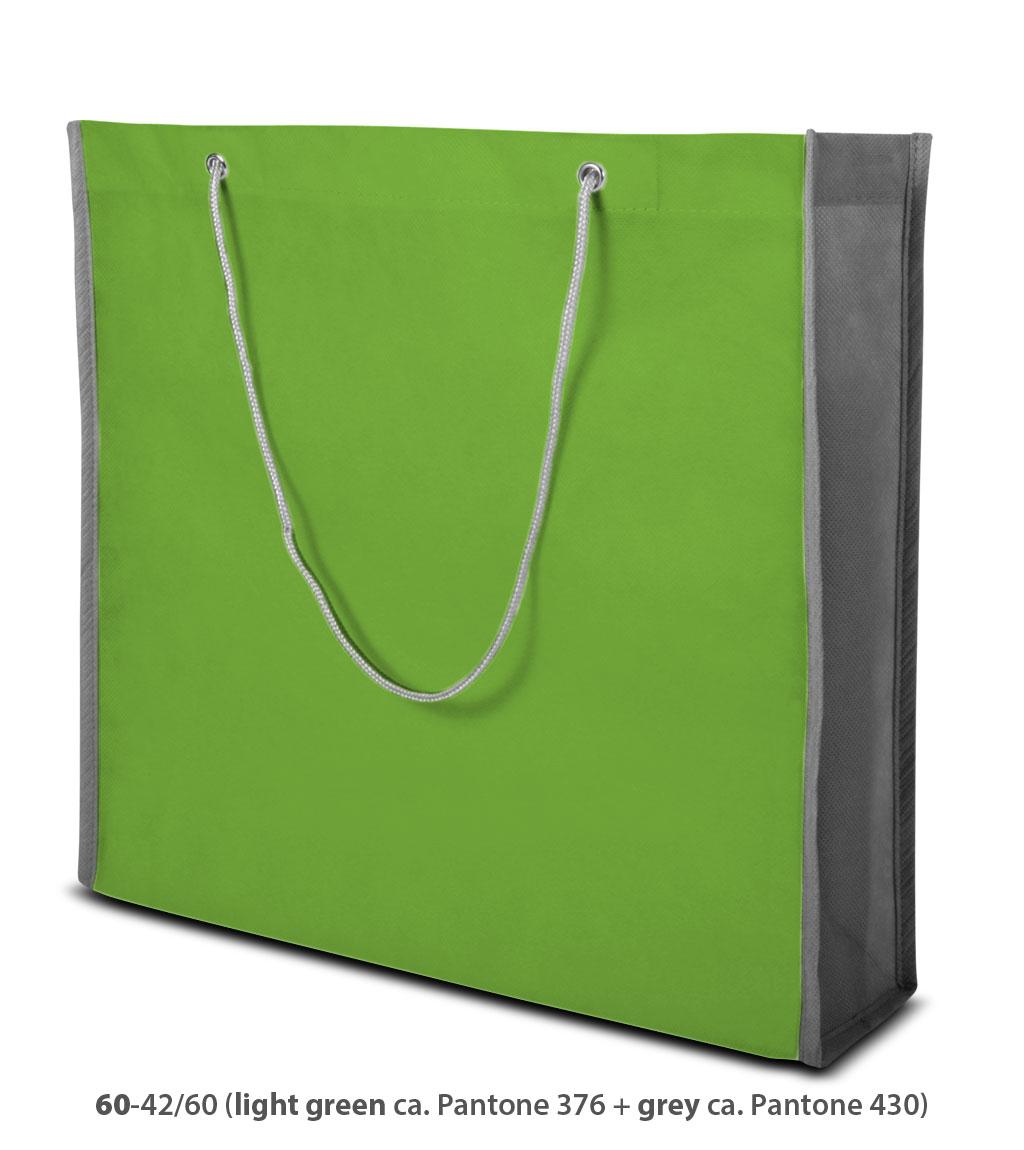 Non-Woven Tasche Milano in hellgrün / grau