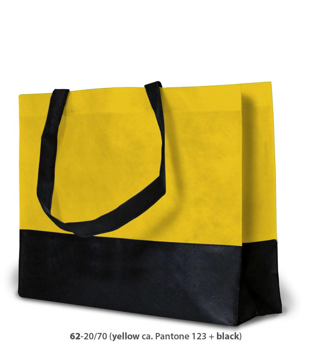 Non-Woven Tasche Roma in gelb / schwarz