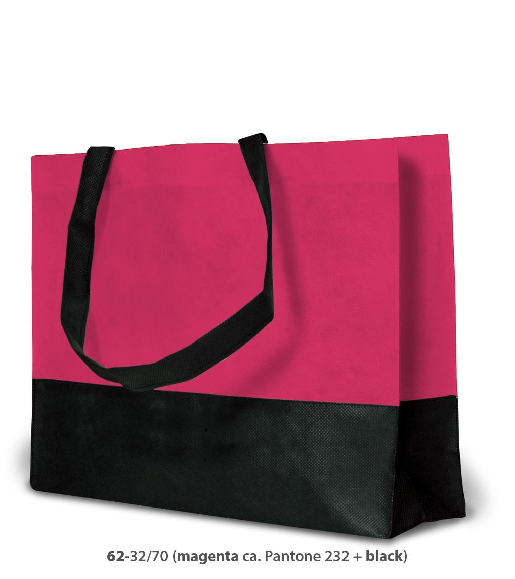Non-Woven Tasche Roma in pink / schwarz