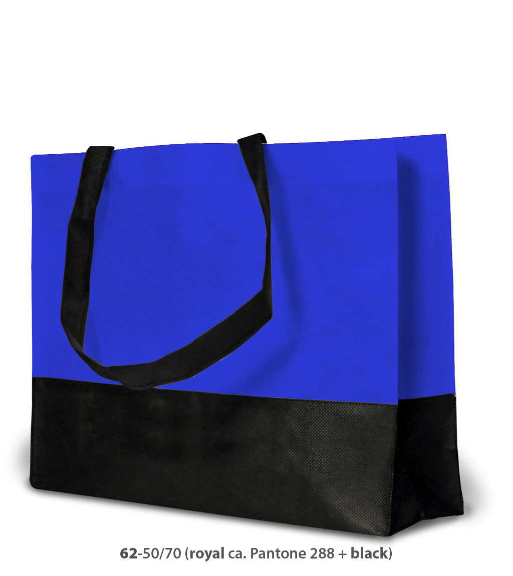 Non-Woven Tasche Roma in blau / schwarz
