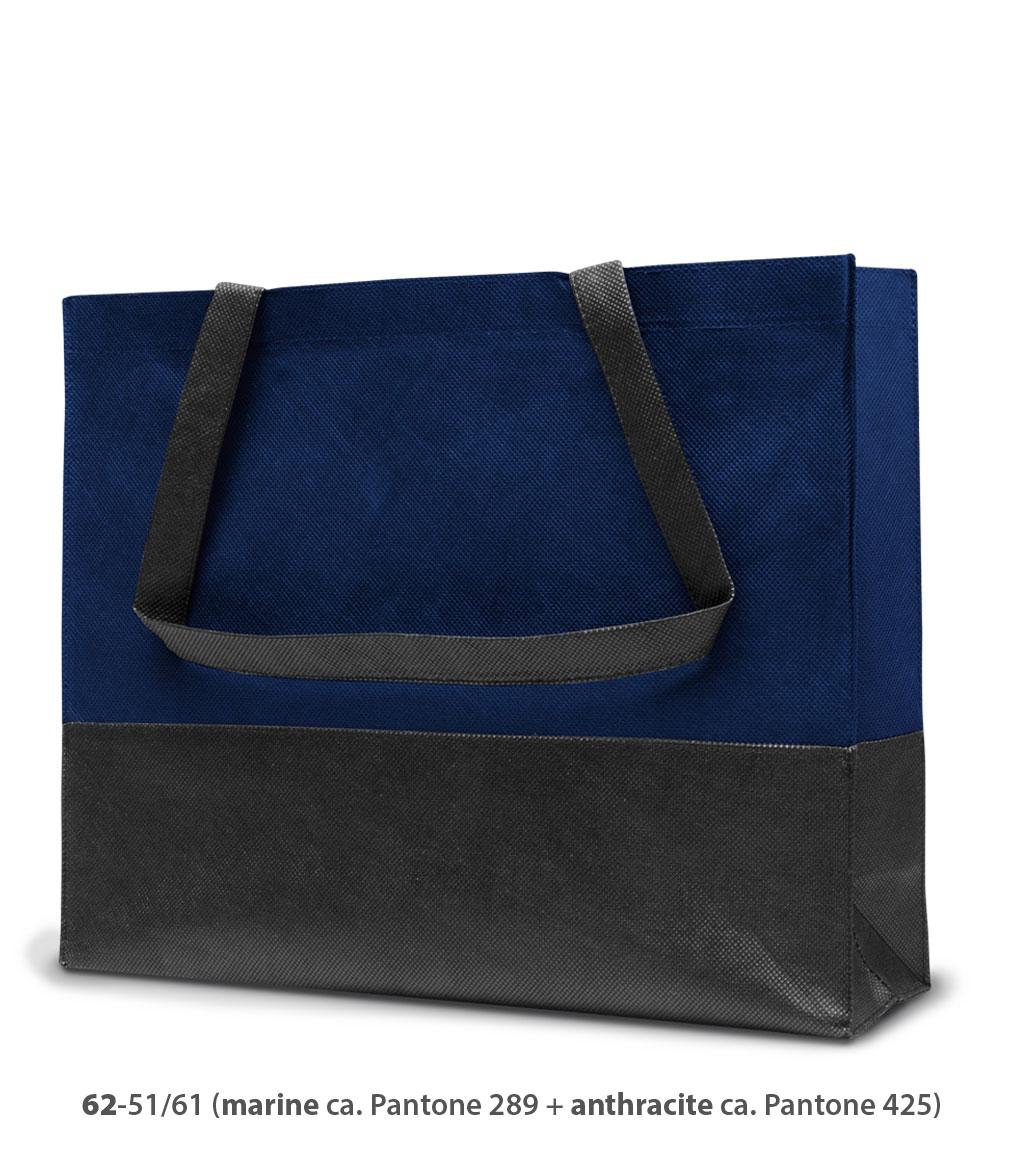 Non-Woven Tasche Roma in dunkelblau / dunkelgrau