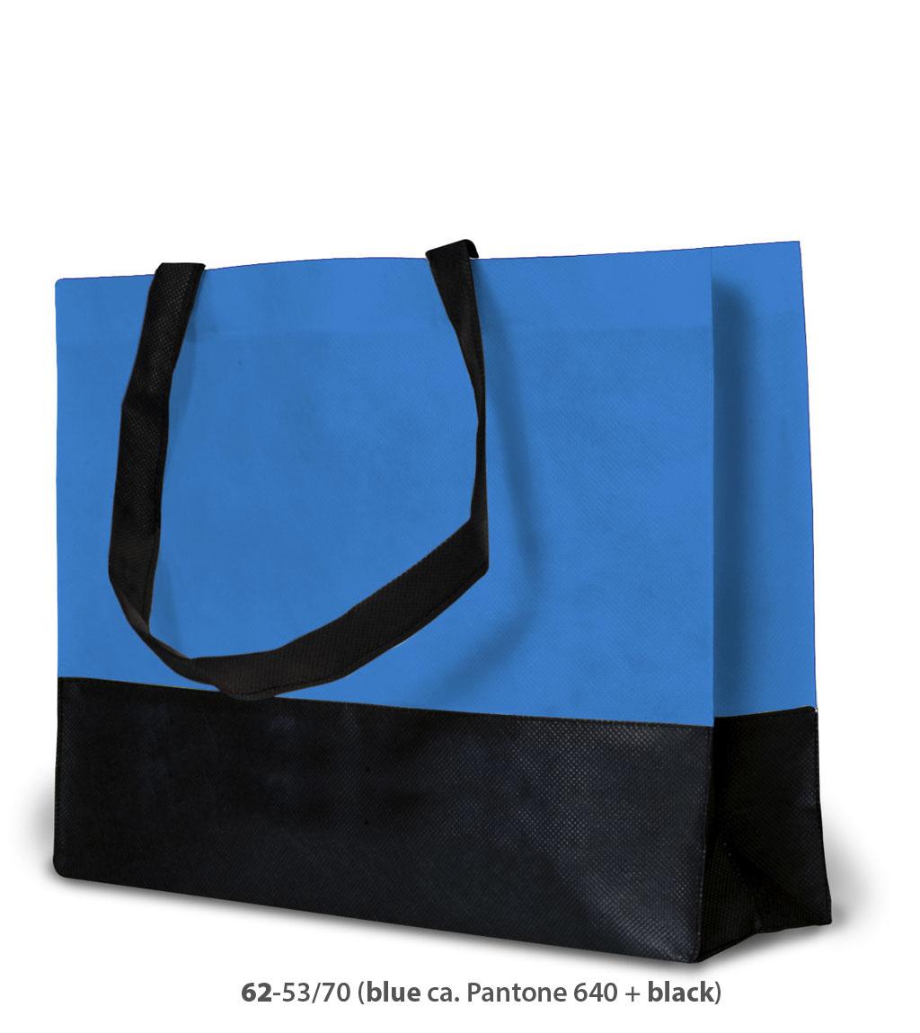 Non-Woven Tasche Roma in hellblau / schwarz