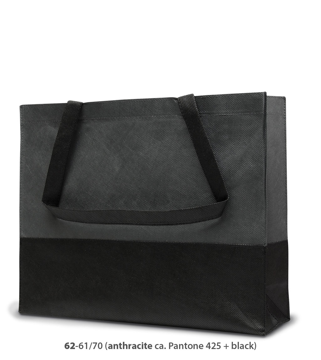 Non-Woven Tasche Roma in dunkelgrau / schwarz