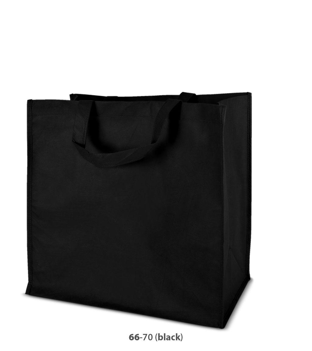 Non-Woven Tasche Moskau in schwarz