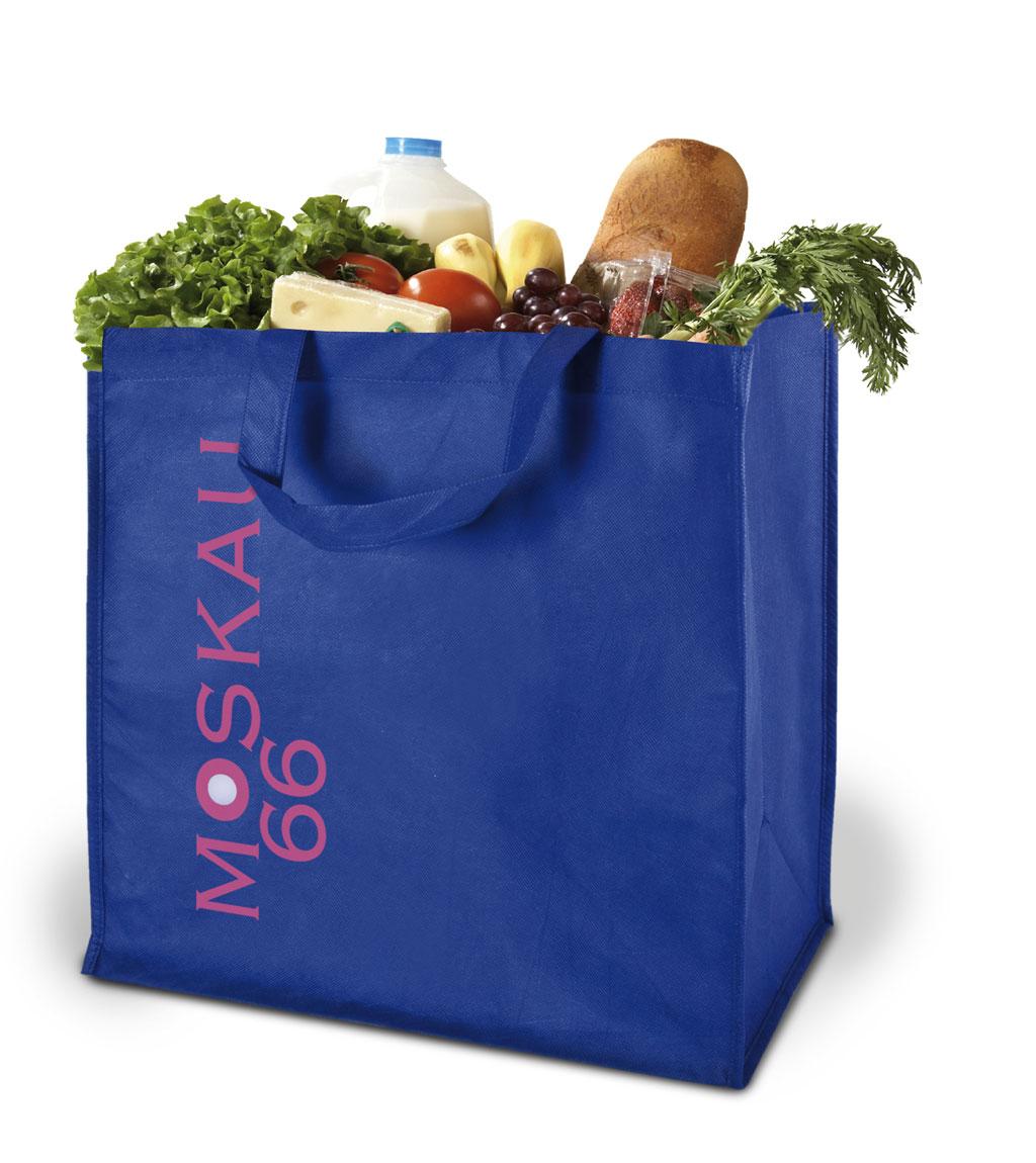 Non-woven Tasche Moskau in blau
