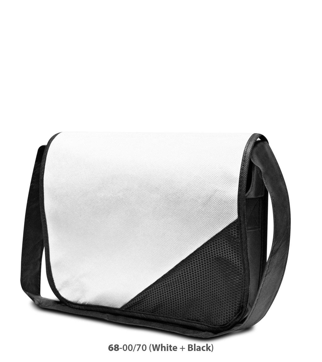 Non-Woven Tasche Wiesbaden in weiss/schwarz