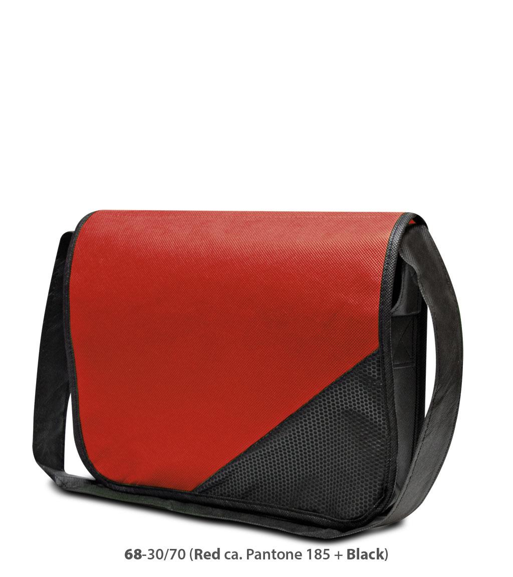 Non-Woven Tasche Wiesbaden in rot/schwarz