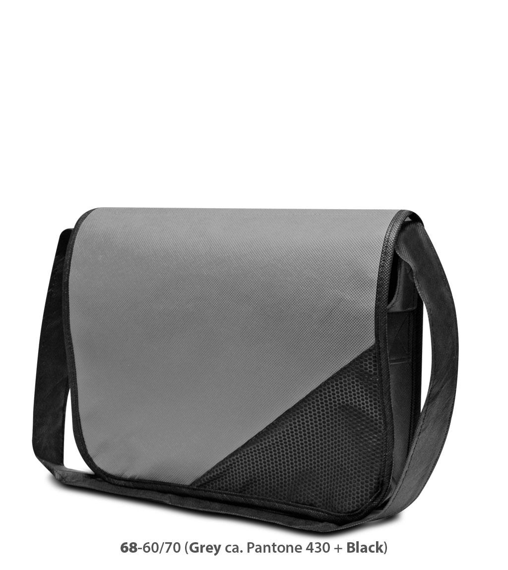 Non-Woven Tasche Wiesbaden in grau/schwarz
