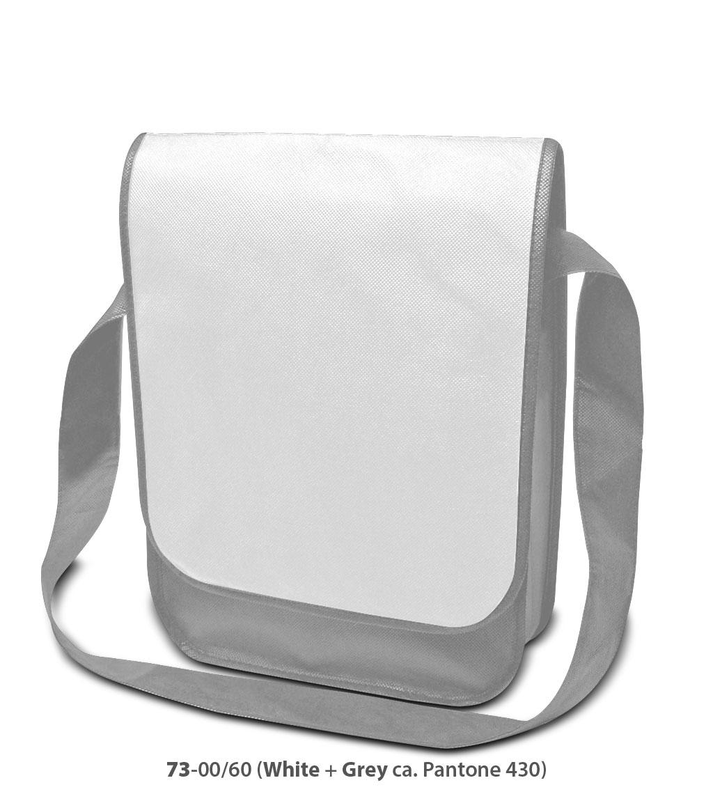 Non-Woven Tasche Dublin in weiss/grau