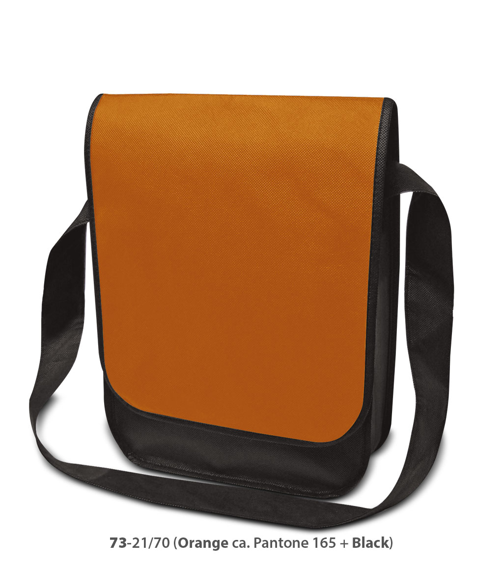 Non-Woven Tasche Dublin in orange/schwarz