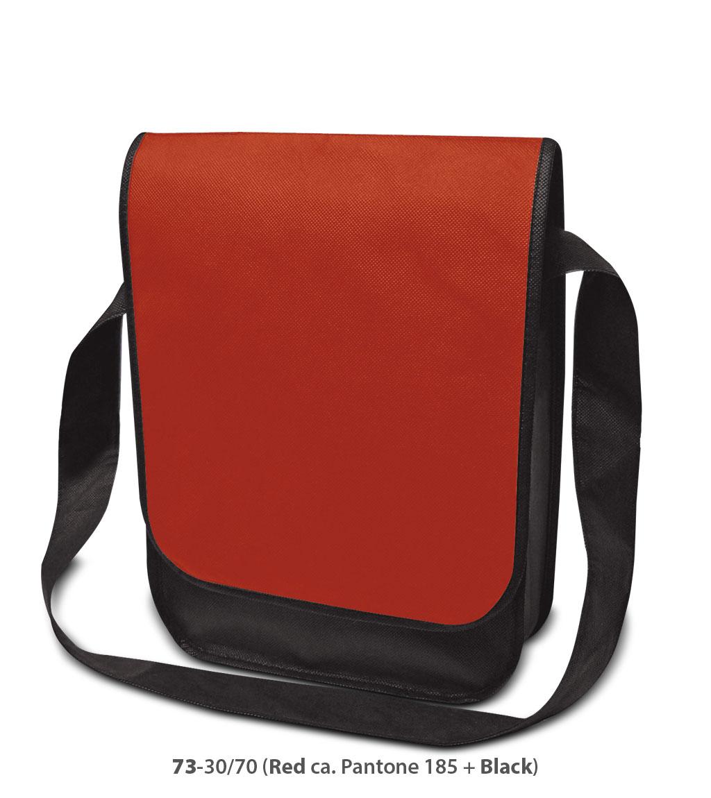 Non-Woven Tasche Dublin in rot/schwarz
