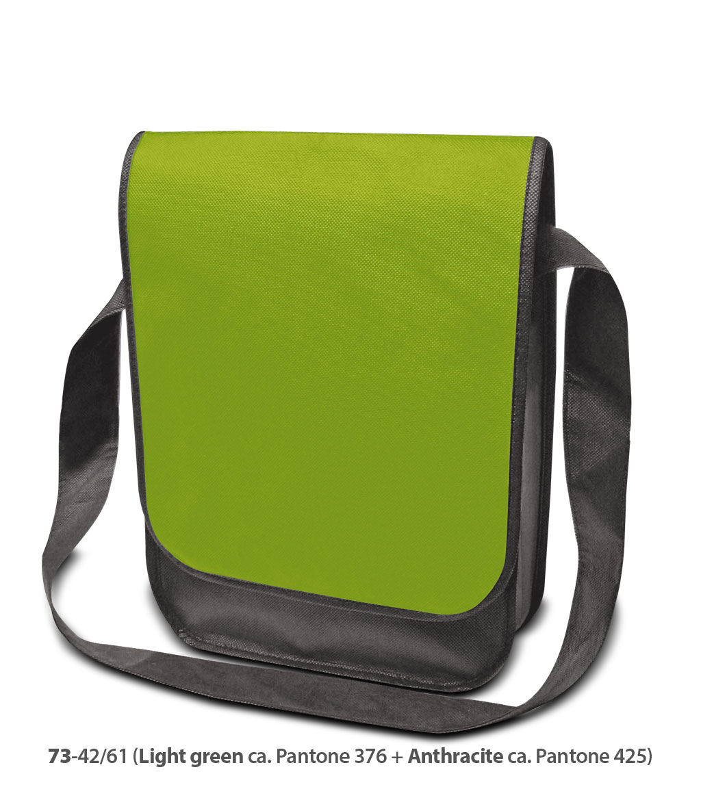 Non-Woven Tasche Dublin in grün/dunkelgrau