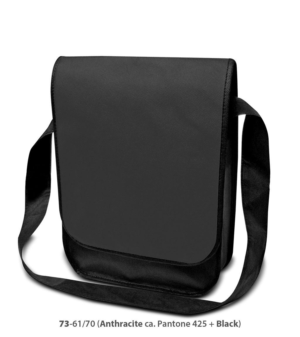 Non-Woven Tasche Dublin in dunkelgrau/schwarz
