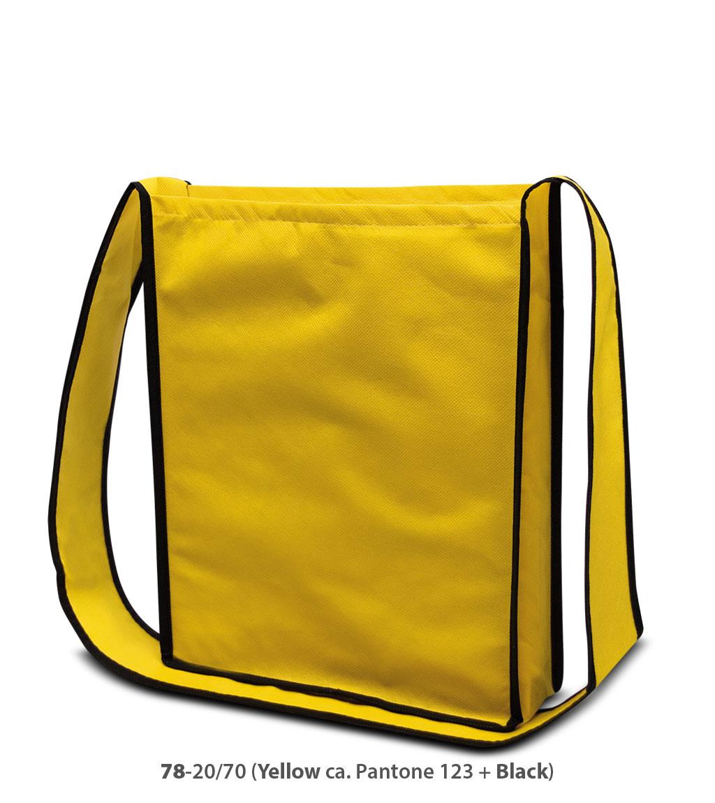 Non-Woven Tasche Bristol in gelb / dunkelgrau