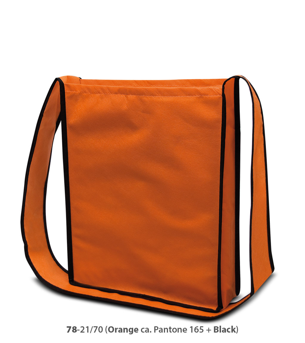 Non-Woven Tasche Bristol in orange / schwarz
