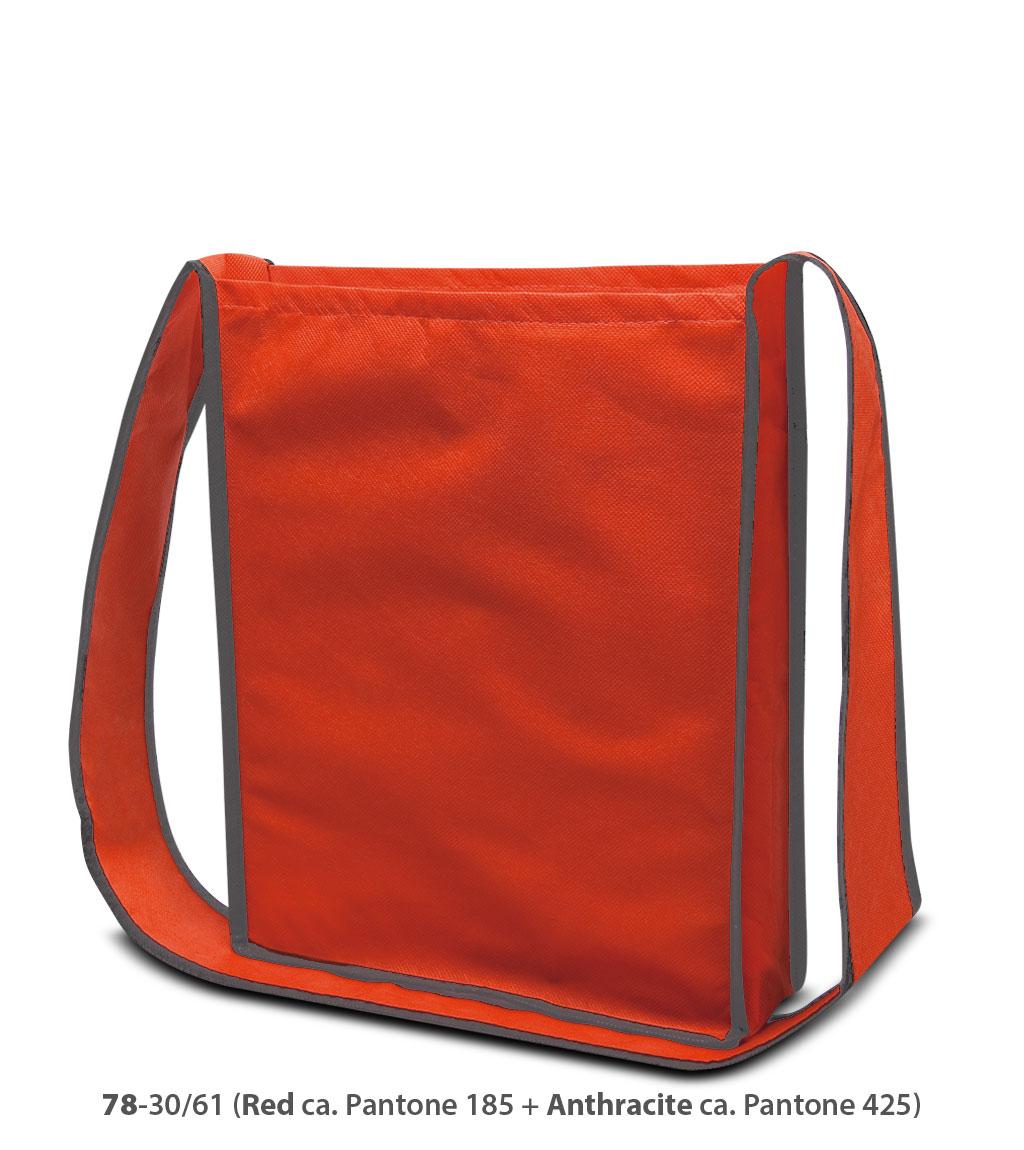 Non-Woven Tasche Bristol in rot / dunkelgrau